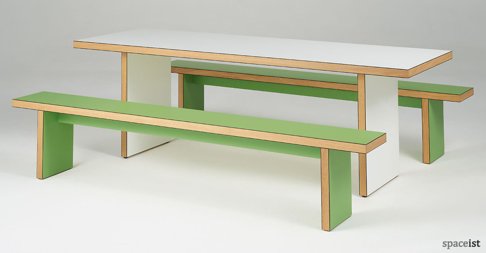 Canteen benches jb waldo tables lime