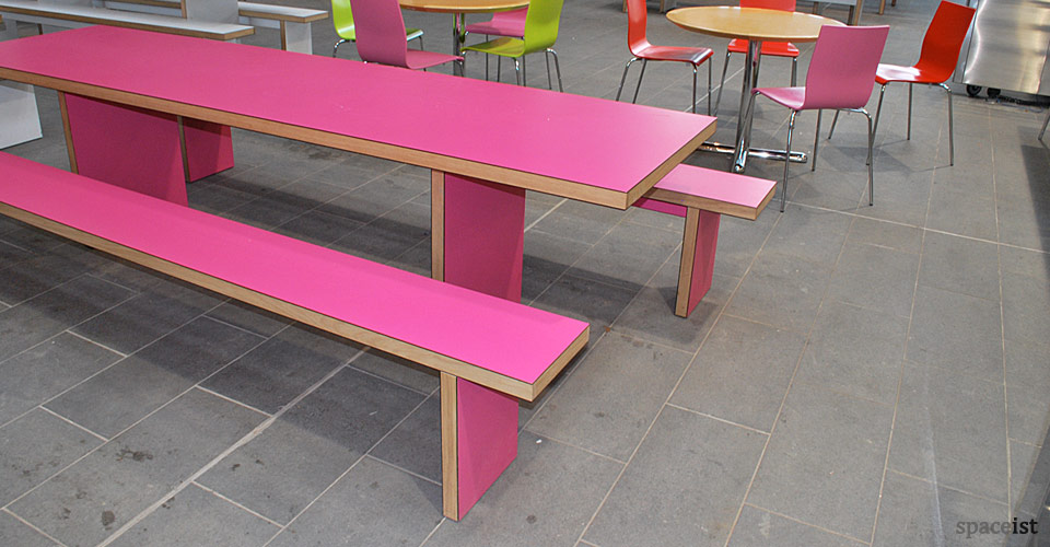 jb pink canteen table and benches