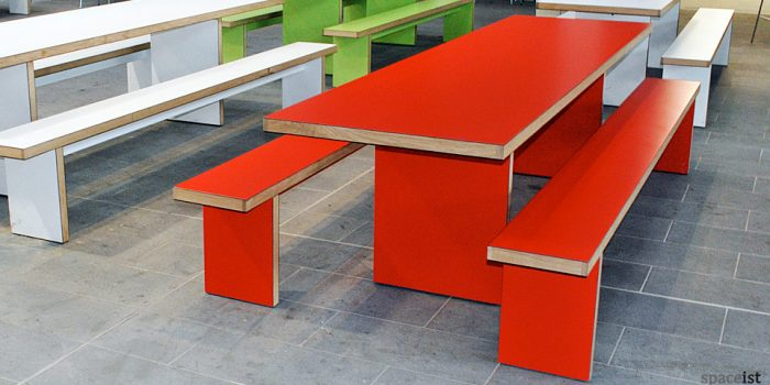 jb red school canteen table and benches