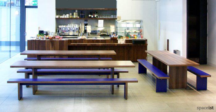 jb walnut canteen benches
