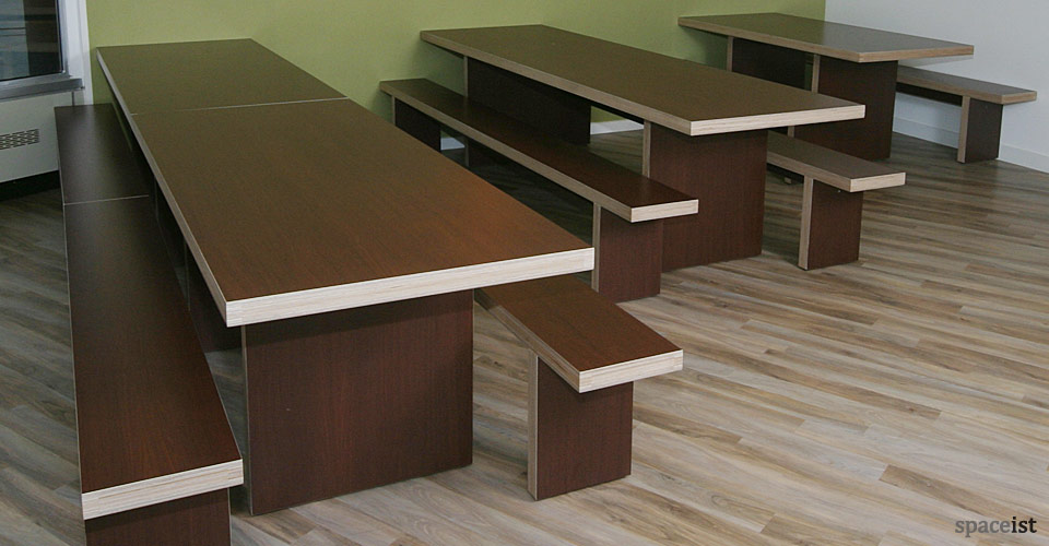 Canteen benches jb waldo tables walnut