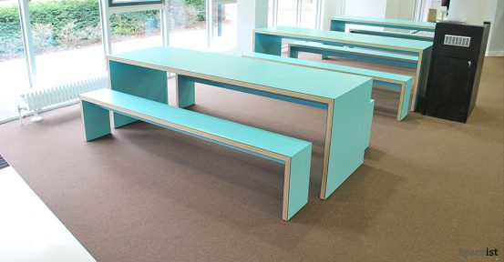 jb45 canteen bench light blue laminate
