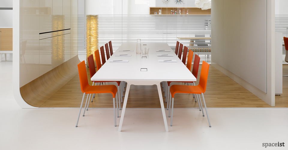 8 person joyn white meeting table