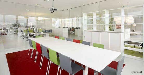 8 person joyn white meeting table