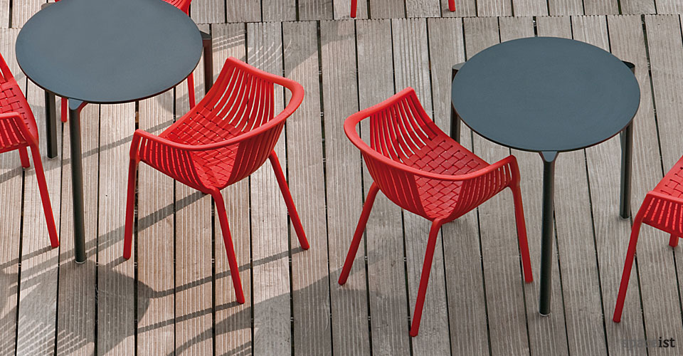 jump black round outdoor cafe tables
