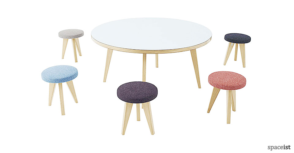 Jura large round meeting room table