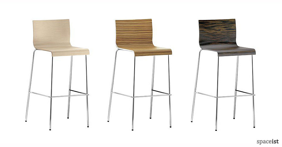 kurdra wood veneer bar stools