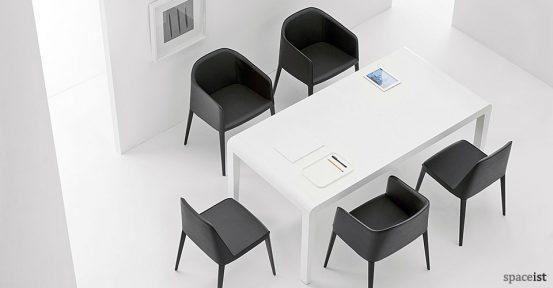 Laj black leather meeting chair