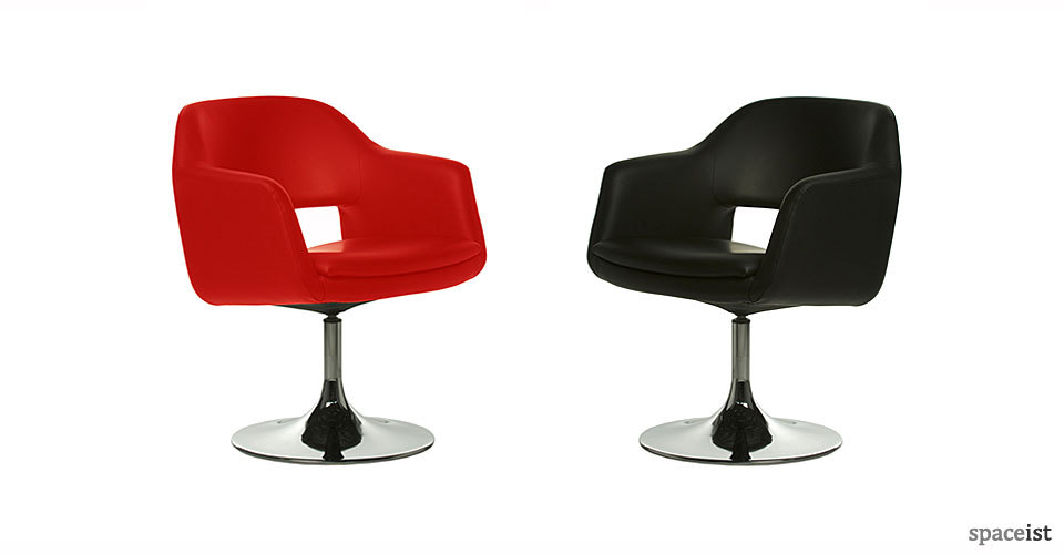 largo red and black meeting chairs
