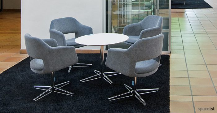 largo grey reception chairs