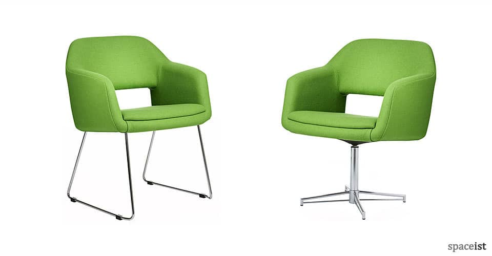 largo lime green reception chairs