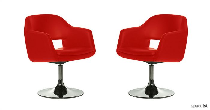 largo red faux leather bar chairs
