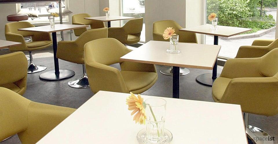 largo sage green fabric chairs