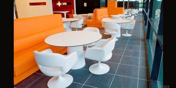 largo white tub chairs