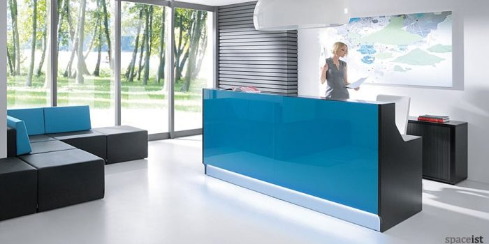 Lina blue reception desk