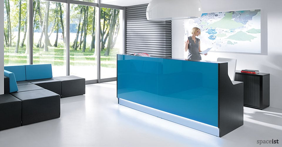 Lina blue reception desk