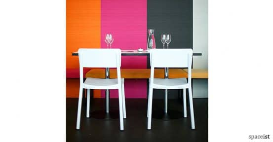 Lisboa white cafe chair