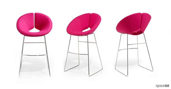 Little Apollo pink bar stool