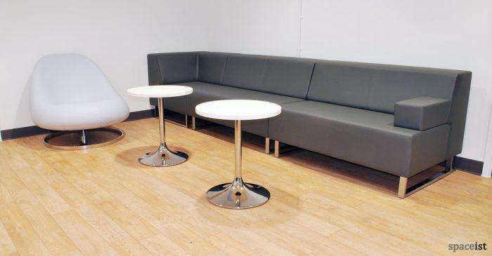 long grey modular sofa system
