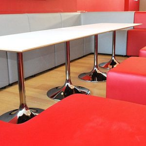 long trumpet cafe table