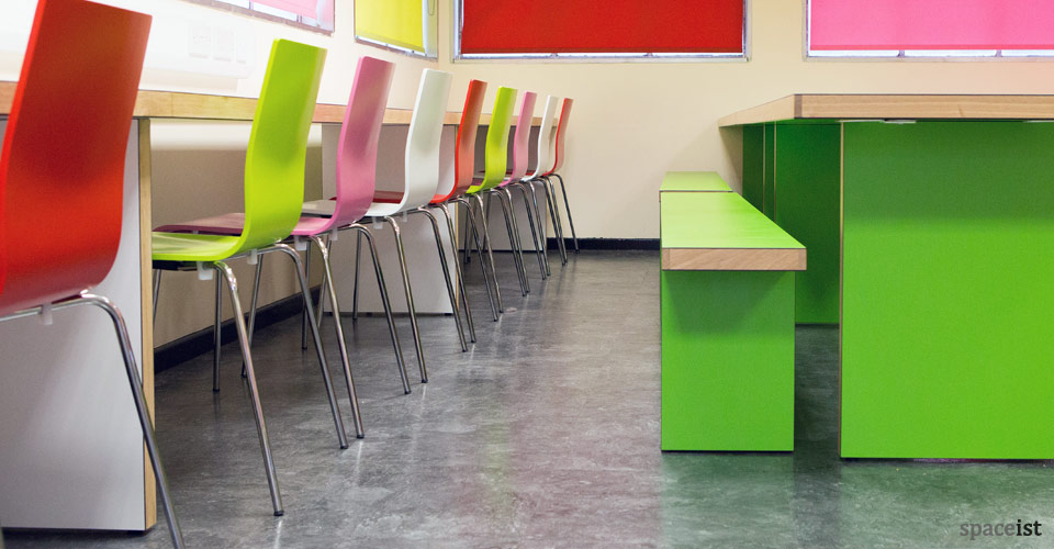 Superb White Long Study Table Swakley School ... Part 26