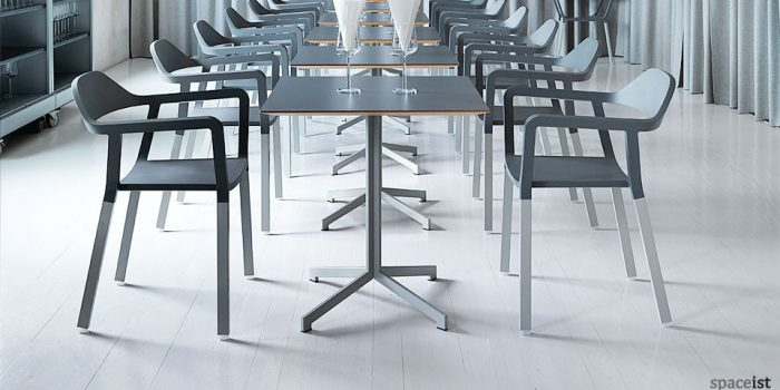 contemporary madi grey square cafe tables