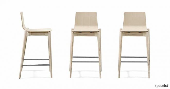 Malmo light wood bar stool
