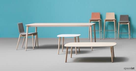 Malmo light wood bar stool