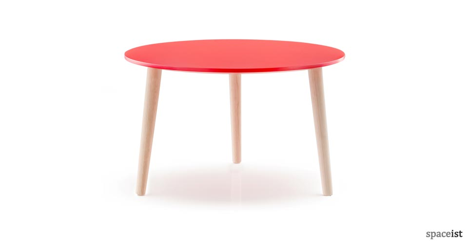 Malmo red round coffee table