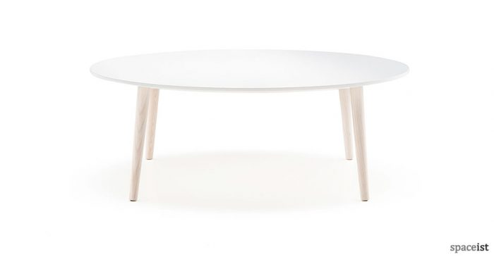 Malmo white round coffee table