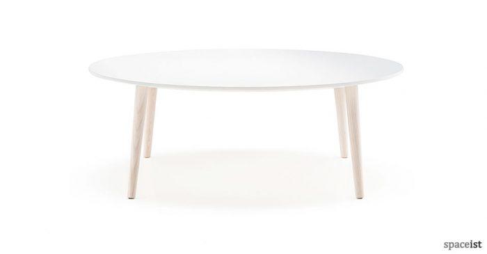 Malmo white round coffee table