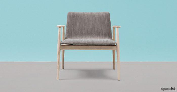 Malmo ash wood reception chair
