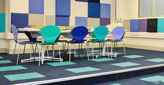 manchester airport bright meeting chairs