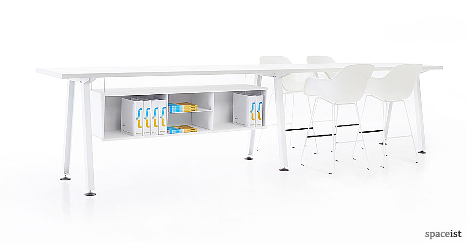 Marina high meeting table in white