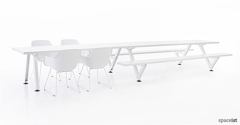 Long Table with a Picnic Style Bench