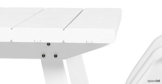 Marina white long canteen table