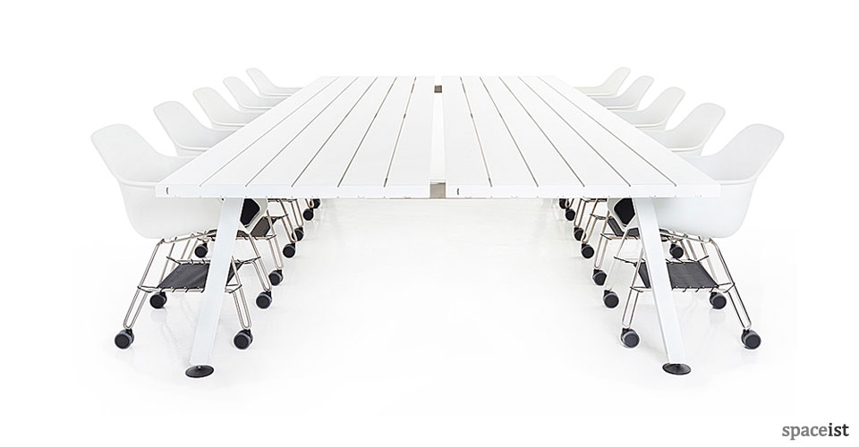 Marina large white meeting room table