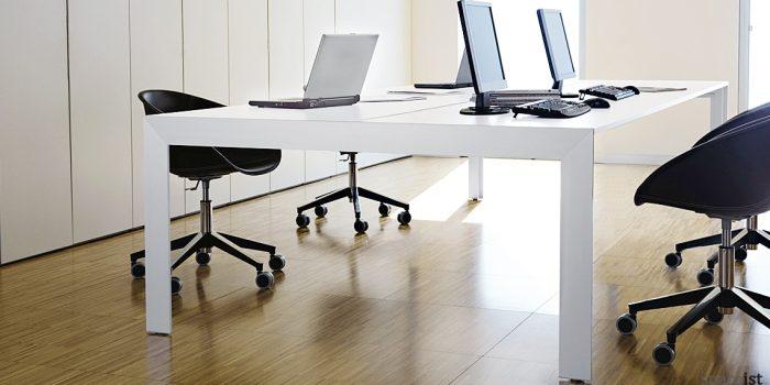 Matrix large white meeting table