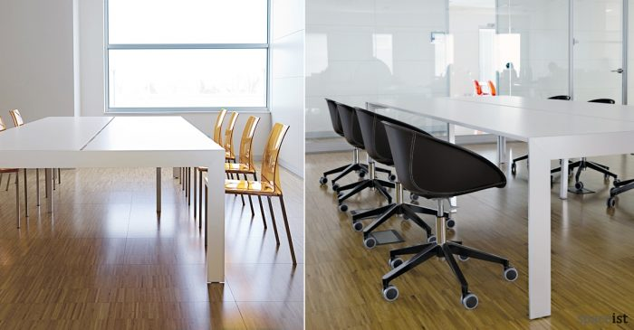 Matrix large white meeting table