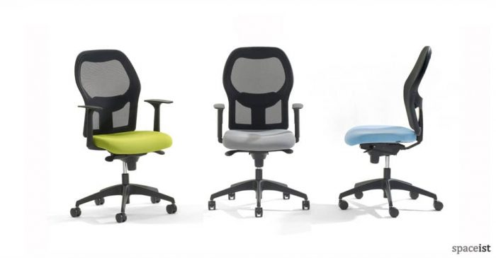 mesh task chair lime green