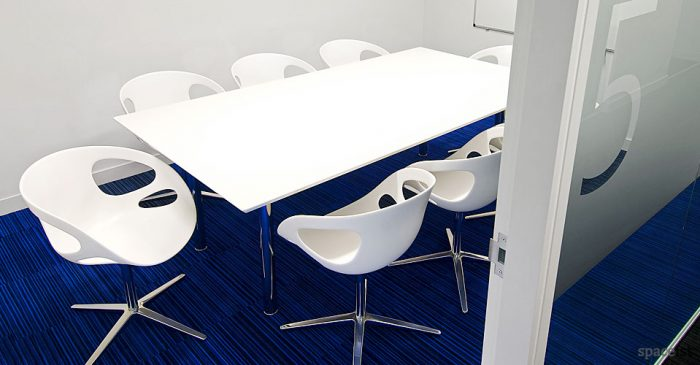 meta white meeting tables