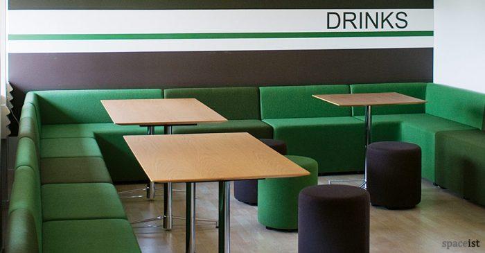 green modular cube school seating