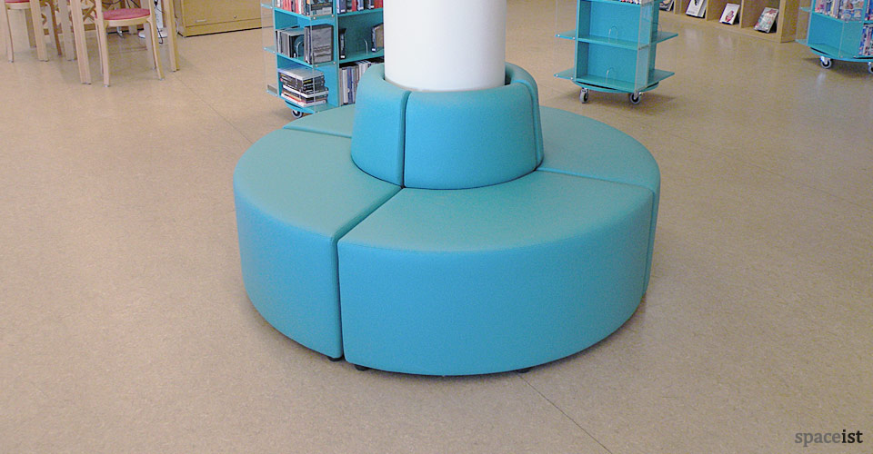 modular blue pillar library chairs