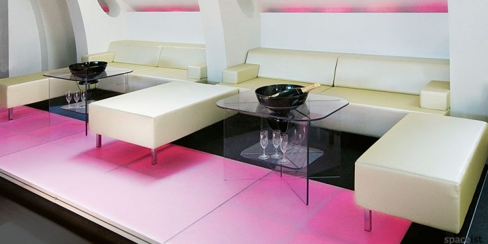 modular sofa gold vinyl