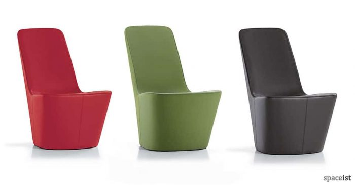 Monopod red, green and black chair