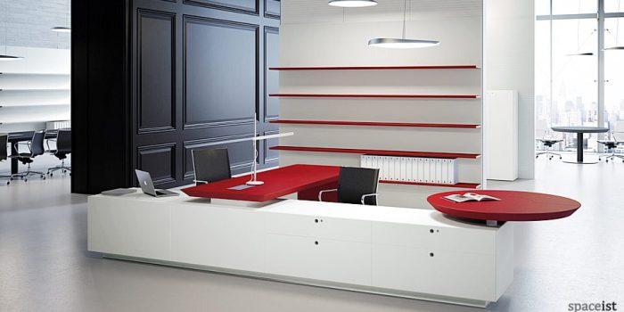 multipli ceo red executive corner desks