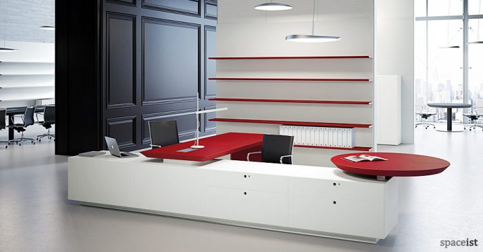 multipli ceo red executive corner desks