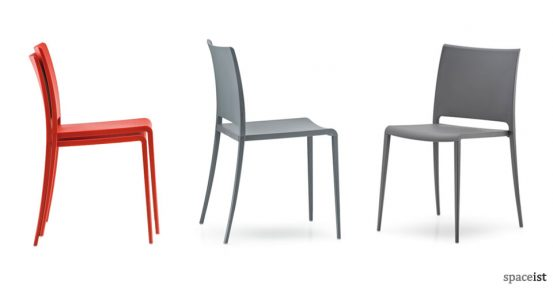 mya orange cafe chairs
