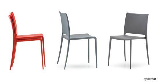 mya orange cafe chairs
