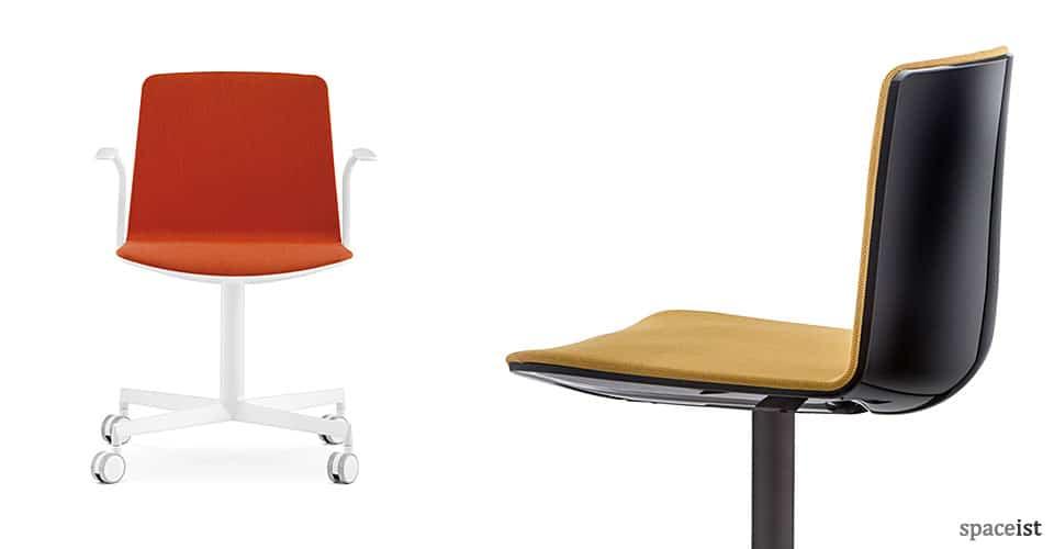 Noa black and white desk chair